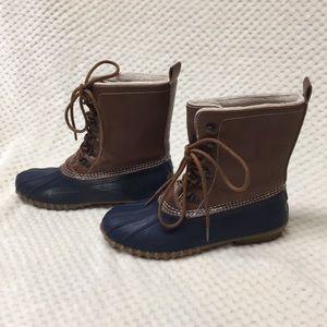 Navy Duck Boots